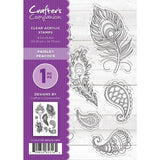 Crafters Companion Clear Stamps 4.1x5.8 inch - Paisley Peacock