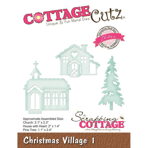 CottageCutz Elites Die - Christmas Village 1