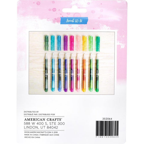American Crafts - Creative Devotion Fine Tip Pens 9 pack Assorted Colours