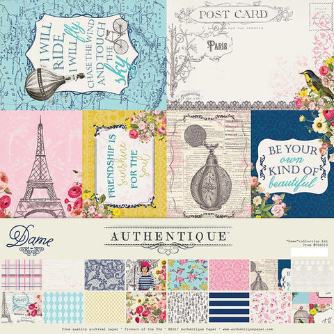 Authentique Collection Kit 12x12inch - Dame