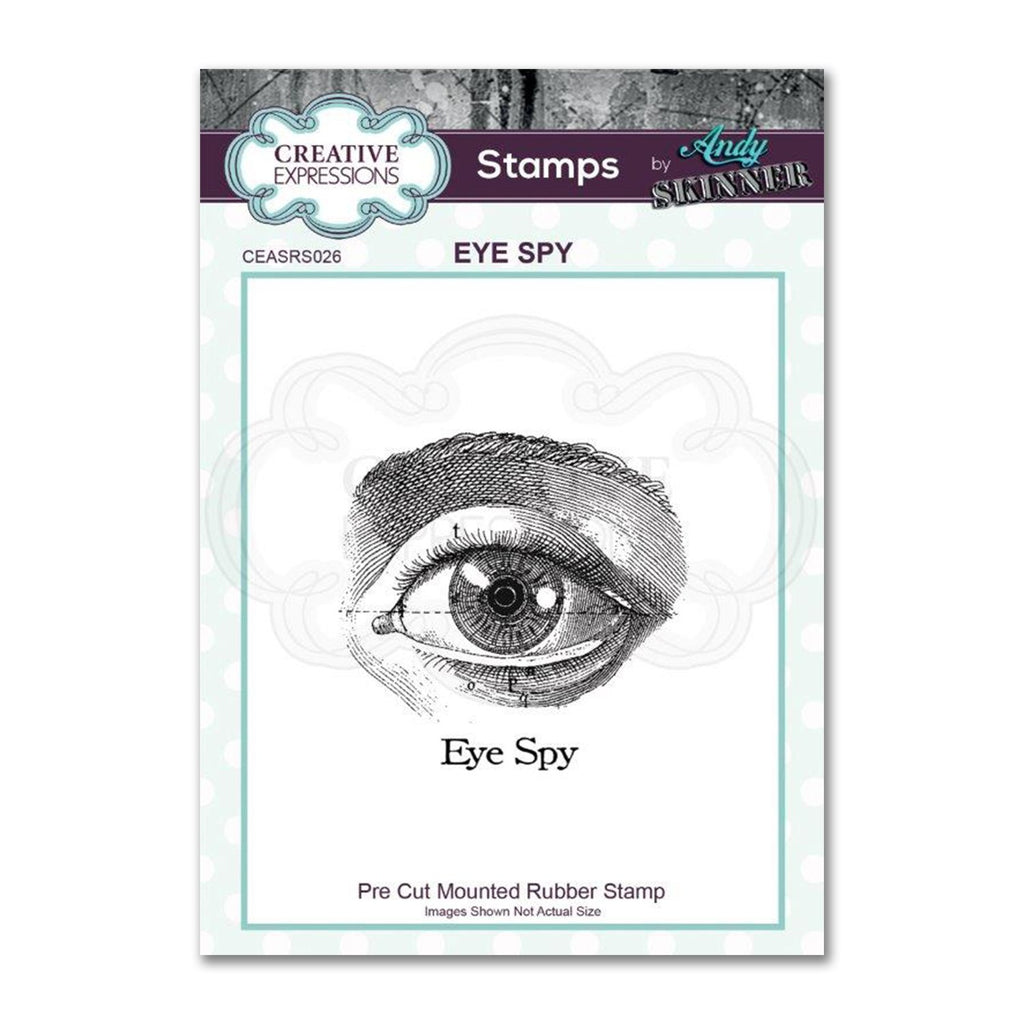 Creative Expressions Andy Skinner Stamp - Eye Spy 1.9 in x 1.9 in