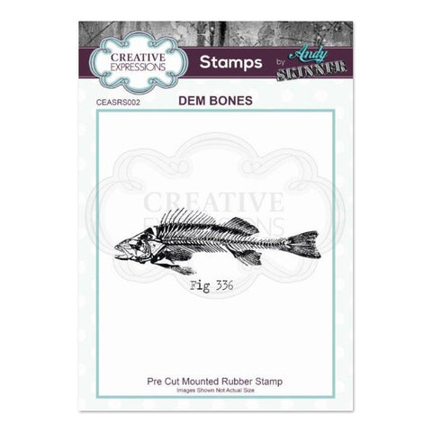 Creative Expressions - Rubber Stamp by Andy Skinner - Dem Bones
