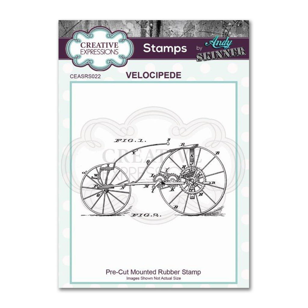 Creative Expressions - Pre Cut Rubber Stamp by Andy Skinner - Velocipede