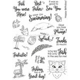 Fishbowl Friends - Sue Wilson Clear Stamps