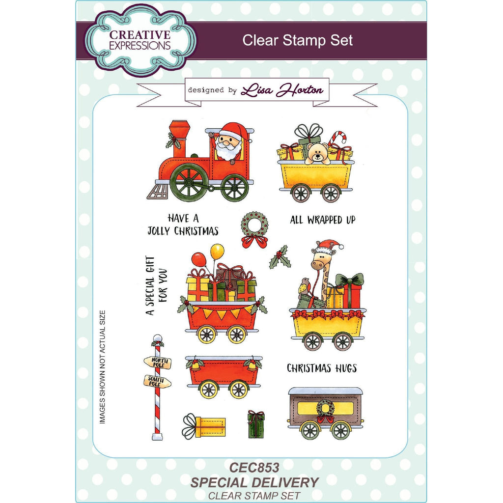 Creative Expressions - Lisa Horton Stamps - Special Delivery A5 Clear Stamp Set