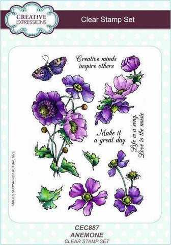 Creative Expressions A5 Clear Stamp Set - Anemone