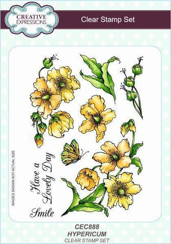 Creative Expressions A5 Clear Stamp Set - Hypericum
