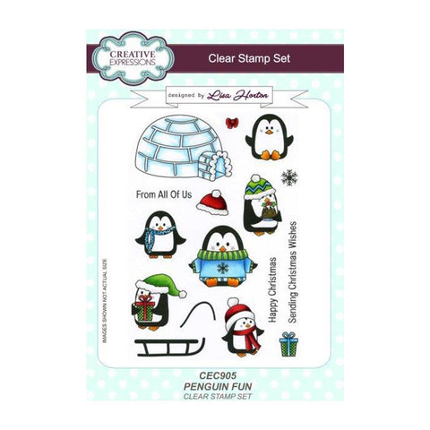 Creative Expressions A5 Clear Stamp Set - Penguin Fun