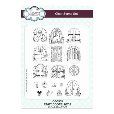 Creative Expressions A5 Clear Stamp Set- Fairy Doors set B