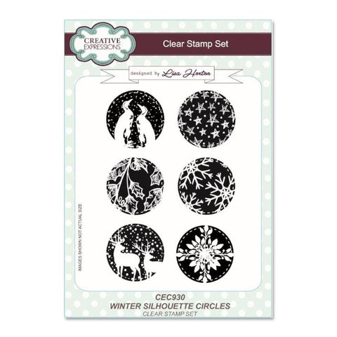 Creative Expressions A5 Clear Stamp Set - Winter Silhouette Circles