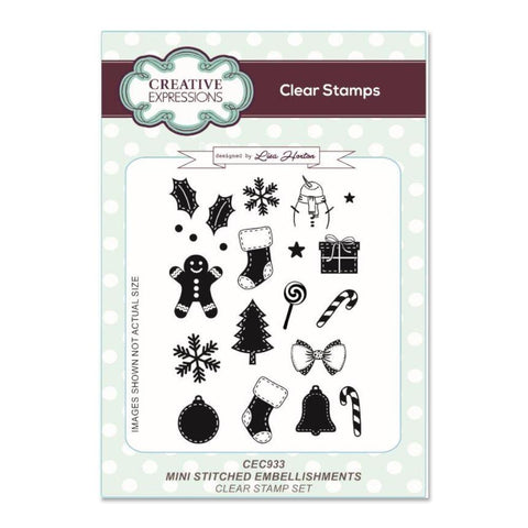 Creative Expressions A6 Clear Stamp Set - Mini Stitched Embellishments