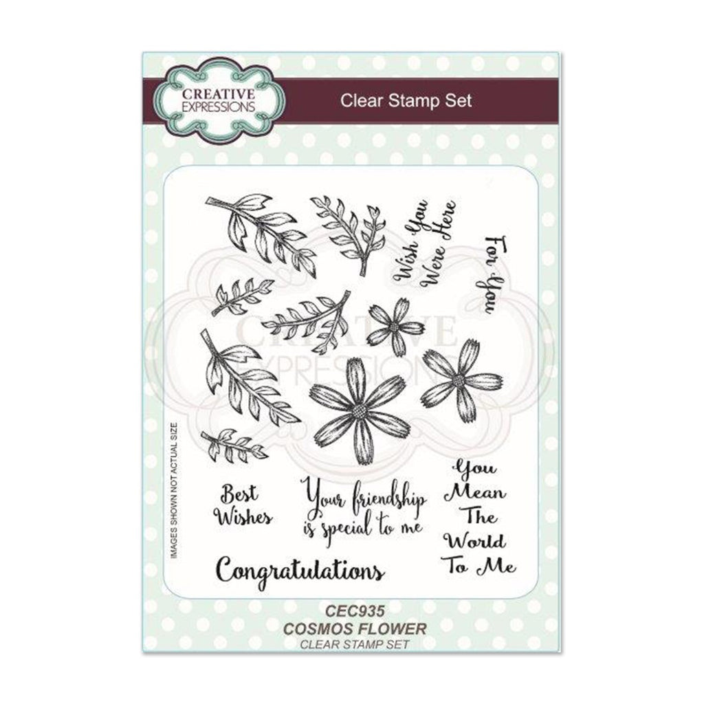 Creative Expressions A5 Clear Stamp Set Cosmos Flower