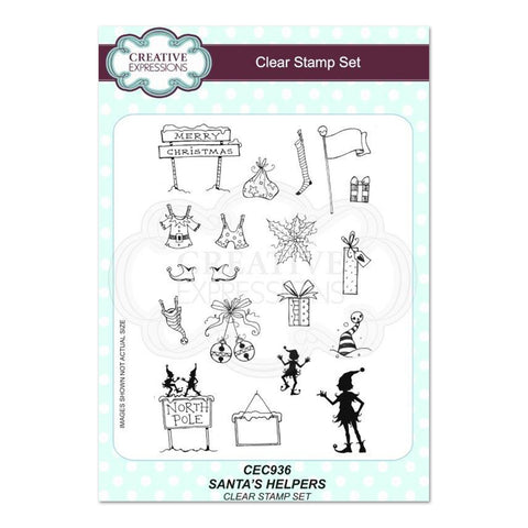 Creative Expressions - Santas Helpers A5 Clear Stamp Set