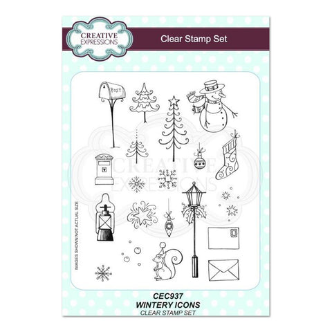 Creative Expressions - Wintery Icons A5 Clear Stamp Set