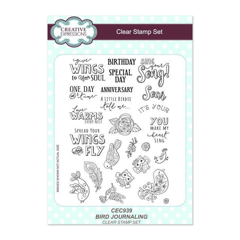 Creative Expressions - Bird Journaling A5 Clear Stamp Set