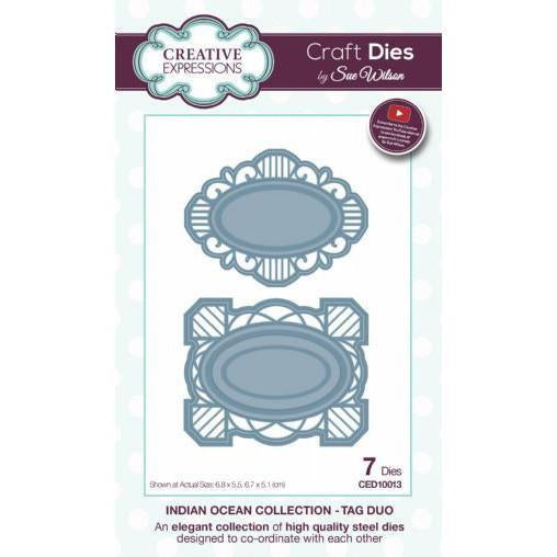 Craft Dies by Sue Wilson - Indian Ocean Collection - Tag Duo