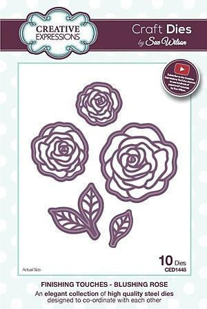 Craft Dies By Sue Wilson - Finishing Touches Collection - Blushing Rose