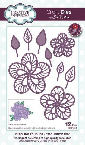 Sue Wilson Designs Die - Finishing Touches Collection - Starlight Daisy