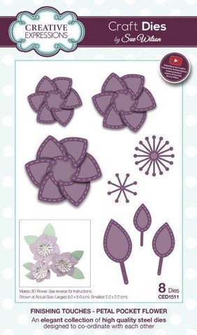 Sue Wilson Designs Die - Finishing Touches Collection - Petal Pocket Flower