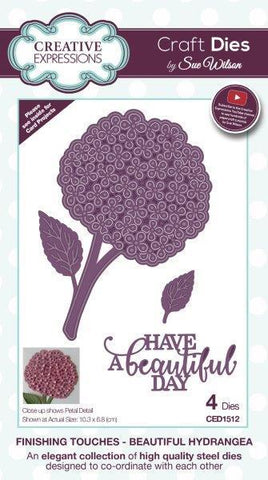 Sue Wilson Designs Die - Finishing Touches Collection - Beautiful Hydrangea