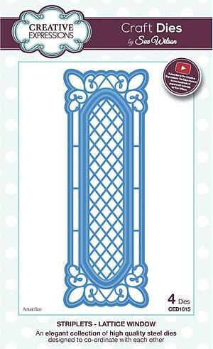 Craft Dies By Sue Wilson - Striplets Collection - Lattice Window