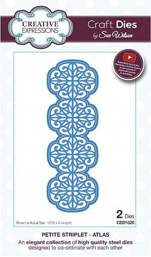 Craft Dies By Sue Wilson - Petite Striplet Collection - Atlas