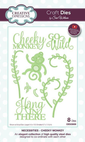 Creative Expressions - Sue Wilson Dies - Necessities Collection Die Set - Cheeky Monkey