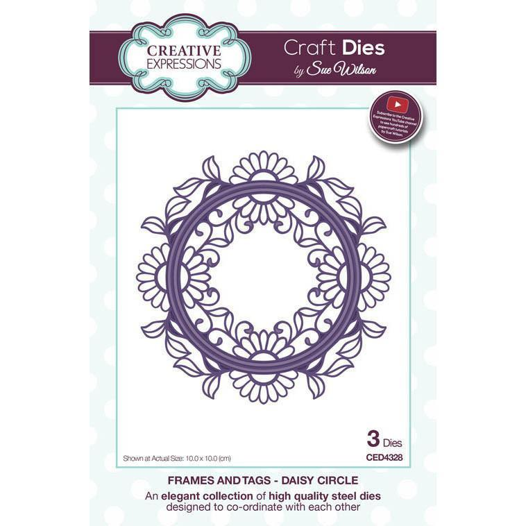 Sue Wilson Frames & Tags Collection Dies - Daisy Circle