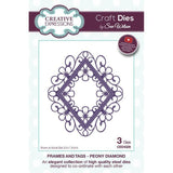 Sue Wilson Frames & Tags Collection Dies - Peony Diamond