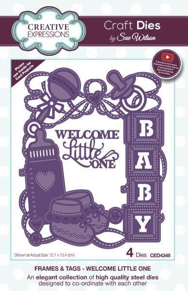 Sue Wilson Designs - Die - Frames and Tags - Welcome Little One