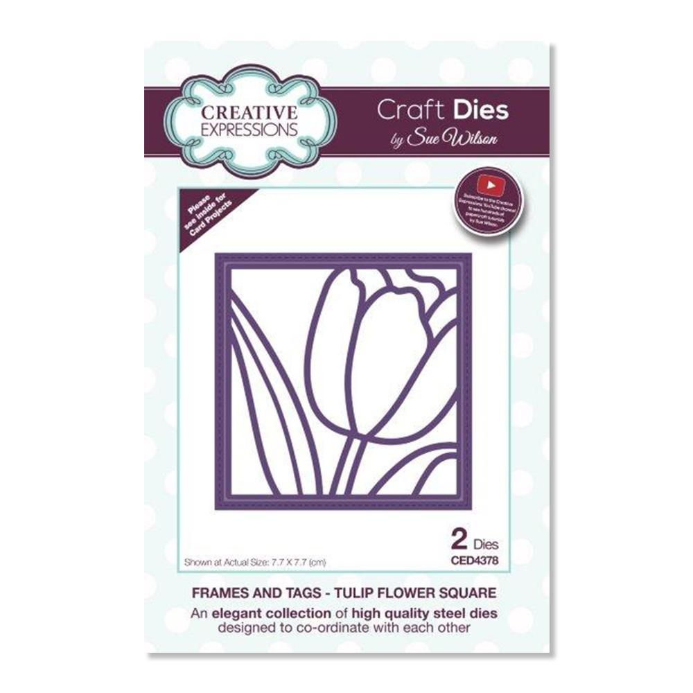 Creative Expressions Frames and Tags Dies - Tulip Flower Square
