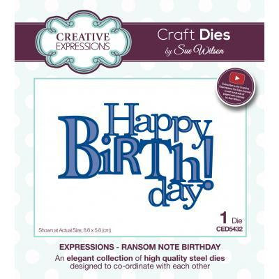 Creative Expressions - Sue Wilson Dies - Expressions - Ransom Note Birthday