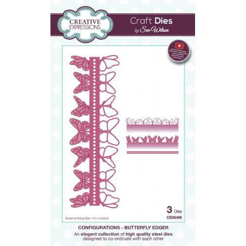 Craft Dies by Sue Wilson - Configurations Collection - Butterfly Edger