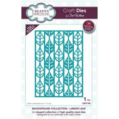Creative Expressions - Sue Wilson Dies - Background Collection - Linear Leaf