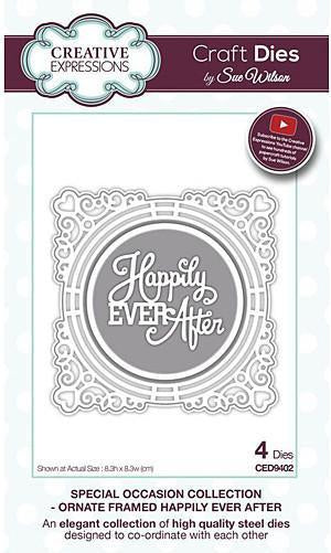 Sue Wilson - Special Occasion Collection - Ornate Framed Happily Ever After Dies