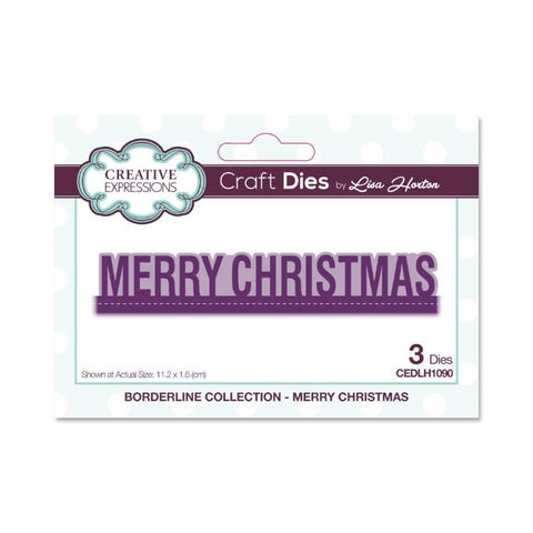 Creative Expressions Craft Die - Borderline Merry Christmas