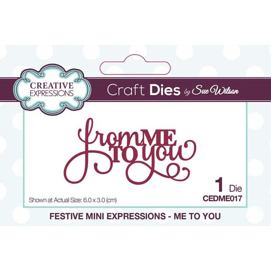 Creative Expressions Dies - Mini Expressions Collection Me To You