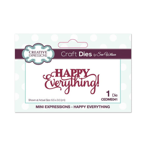 Creative Expressions Die - Mini Expressions Collection - Happy Everything