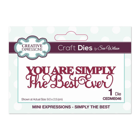 Creative Expressions - Sue Wilson Mini Expressions Collection Die, Simply The Best
