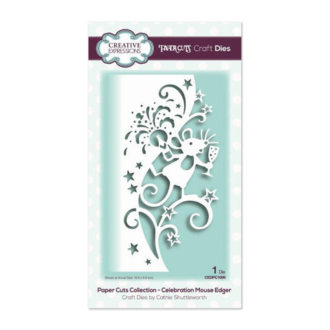 Creative Expressions - Paper Cuts Collection Die - Celebration Mouse Edger