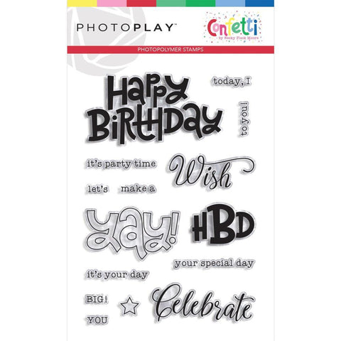 PhotoPlay - Photopolymer Stamp - Confetti