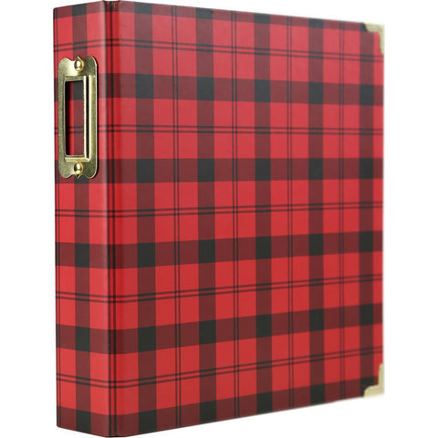 Echo Park 2-Ring Album 6x8 inch - Black & Red Check