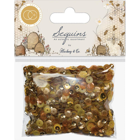 Craft Consortium Sequins Gold & Honey - Tell The Bees