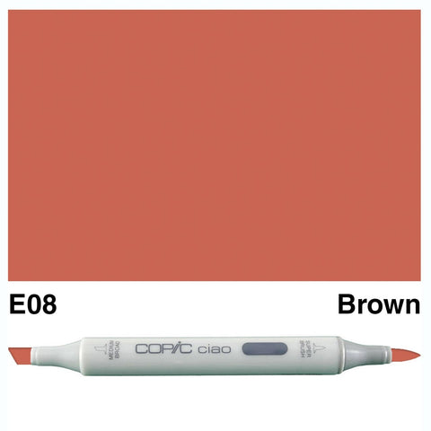 Copic Ciao Marker - E08 - Brown