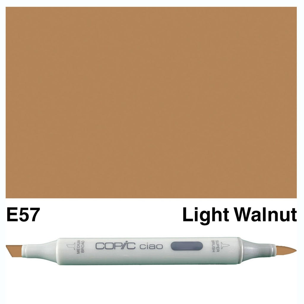 Copic Ciao Marker Pen - E57 - Light Walnut