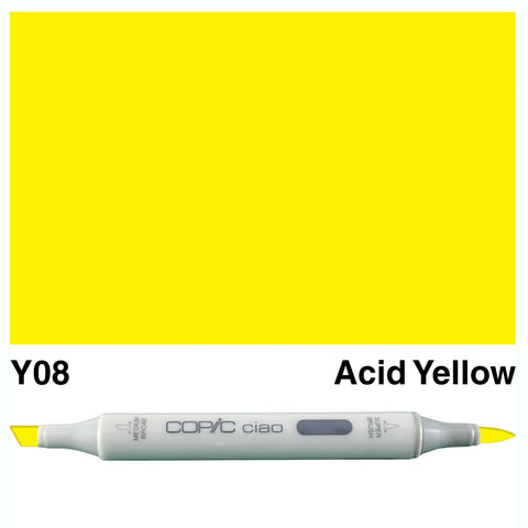 Copic Ciao Marker - Y08 - Acid Yellow