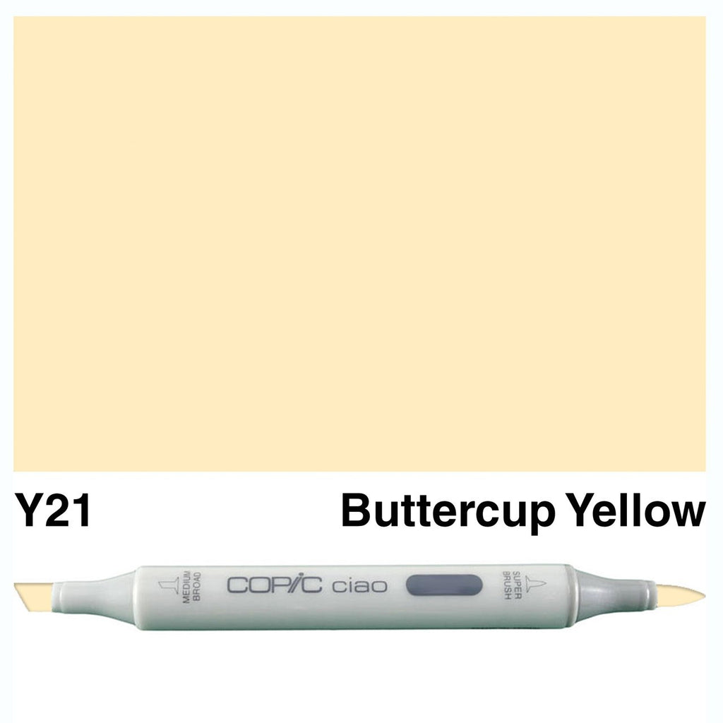 Copic Ciao Marker - Y21 - Buttercup Yellow