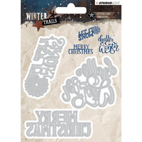 Studio Light Winter Trails Cutting & Embossing Die - Christmas Sentiments