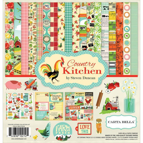 Carta Bella Collection Kit 12x12 inch - Country Kitchen