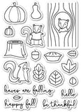 Poppystamps Clear Stamp Sets  - Falling For You Die Set